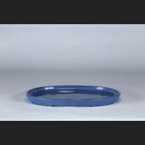 植松陶翠  瑠璃釉切立楕円水盤