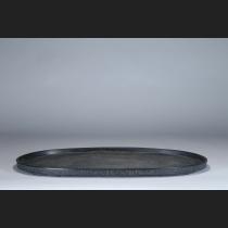 鋳銅漢式地紋楕円水盤