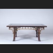 紫檀 筋斑竹象嵌 天拝幕飾り机卓