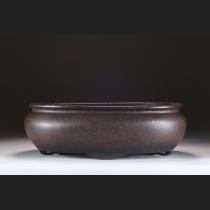 梨皮紫泥袋式半月足楕円(中国清代後期作)