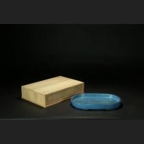 炉均窯切立楕円水盤
