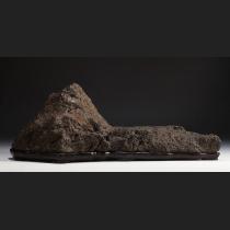 小口寉龍庵旧蔵 加茂川山型土坡石