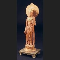 木彫観音菩薩立像