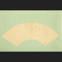 「雨中に白鷺」 長谷川玉峰筆