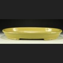 黄均窯外縁楕円水盤