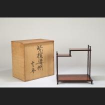 紫檀竹彫葡萄天板違い棚