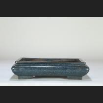 宜興紫砂胎 炉均釉袋式長方
