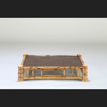 斑竹網代天板正方平卓