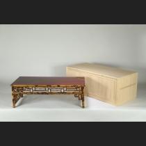紅斑竹幕飾り文房机卓
